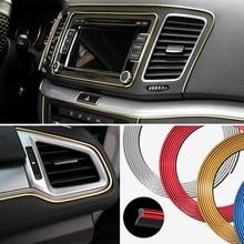 Автомобиля интерьера планка отделка декоративные полоски линии для Volkswagen POLO Golf 5 6 7 Passat B5 B6 B7 бора MK5 MK6 Tiguan