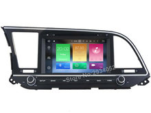 FOR HYUNDAI ELANTRA 2016 Android 8.0 Car DVD player Octa-Core 8Core 4G RAM 1080P 32GB ROM gps multimedia head device unit stereo