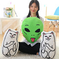 1pc 46cm Creative cheap cat / alien pillow  middle finger Funny cat cheap personalized birthday party gift free shipping