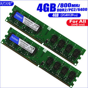PLEXHD 2gbx2pcs DDR2 Desktop 800mhz Pc2-6400 Wide-Version Intel High-Compatible 4GB