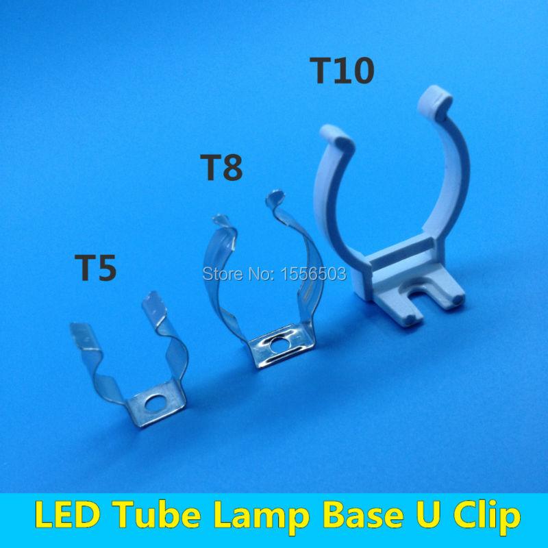 Aliexpress Com Buy 20 Pcs Tube Lamp T5 T8 T10 Wall Clip