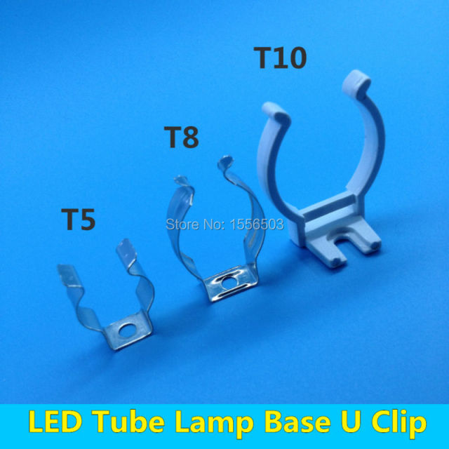 Aliexpress Com Buy 20 Pcs Tube Lamp T5 T8 T10 Wall Clip