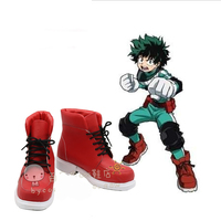 Coshome Boku No Hero Academia Shoes Izuku Midoriya Cosplay Costume Shoes My Hero Academia Red Boots