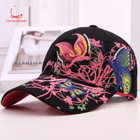 Baseball cap lady's cap fashion embroidery outing spring and autumn sun protection sports leisure outdoor sun hat