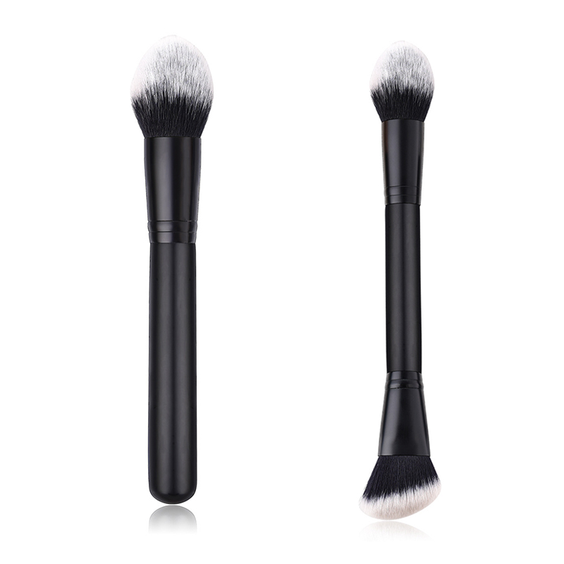 Reals Angled Double Ended Contour Brush Sculpting Brush Powder Blush Concealer Brush Makeup Brushes Cosmetic Tools Techniques 29