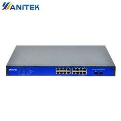 16 + 2 Port Full Giga 250W POE Switch Ondersteuning Ieee802.3af/op Ip's en Draadloze AP 10 /100/1000Mbps standaard netwerk switch