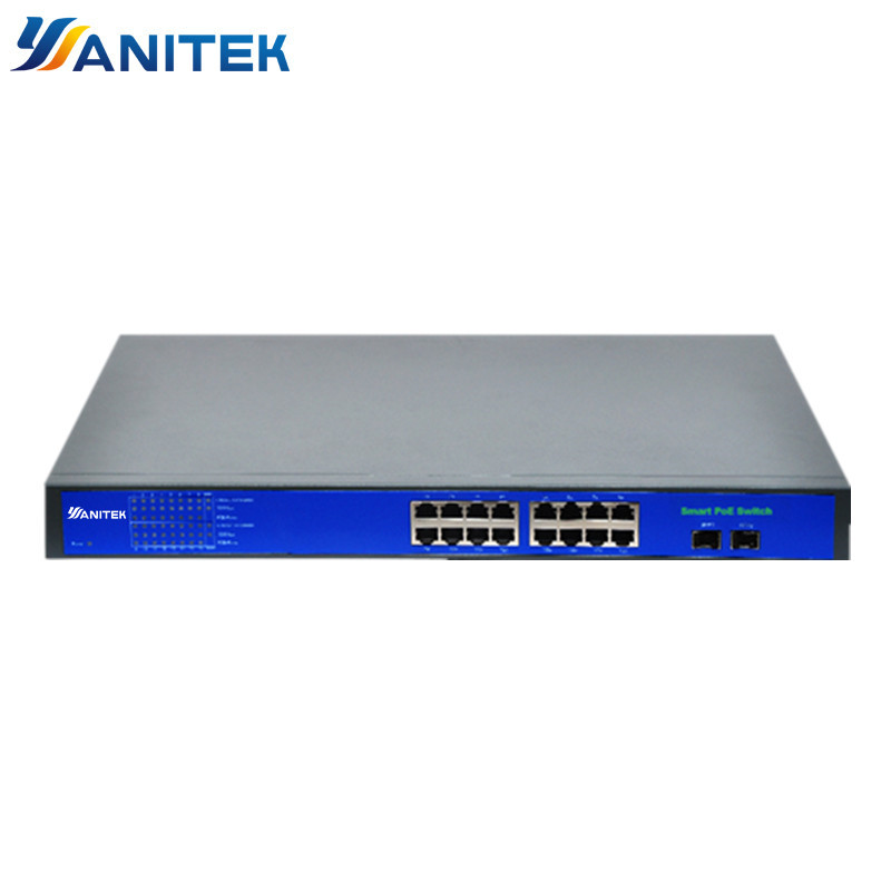 16+2 Port Full Giga 250W POE Switch Support Ieee802.3af/at Ip Cameras And Wireless AP 10/100/1000Mbps Standard Network Switch
