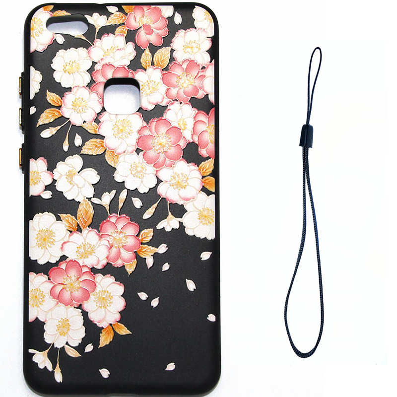 3D Relief flower silicone huawei P10 lite (10)