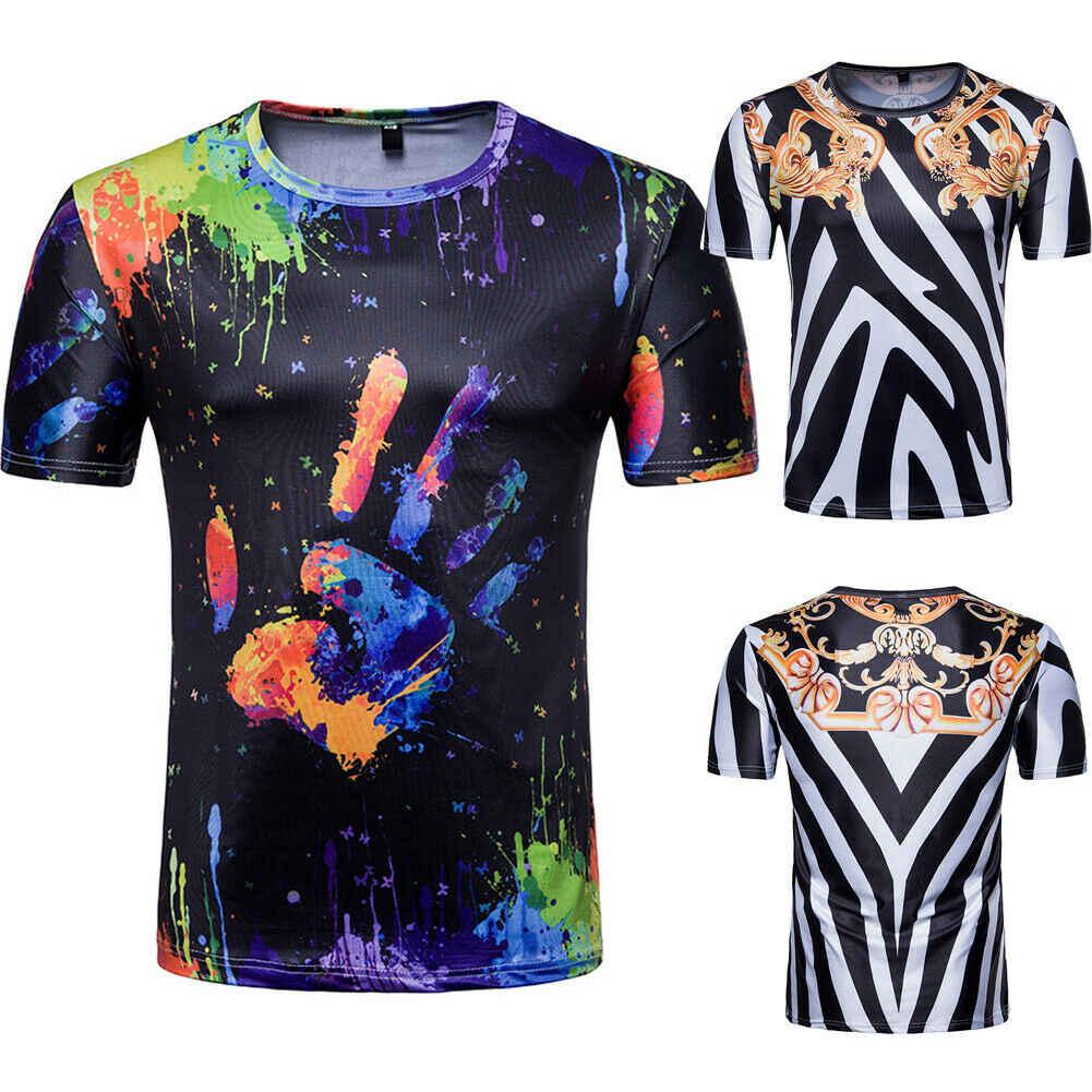 Hirigin 男性の半袖スリムフィットブラウスシャツ夏カジュアル筋肉 Tシャツはシャツトップス