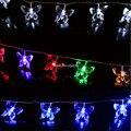 Multicolor 20/30/40/50/80 LED Luzes Cordas de Fadas Bateria Operado Borboleta 2 M/3 M/4 M/5 M/10 M Natal Xmas Festa Guirlanda