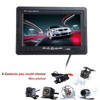 7 pulgadas HD TFT LCD espejo retrovisor del coche potente Monitores aparcamiento Monitores inversión incrustado Pantalla de a bordo 2.0