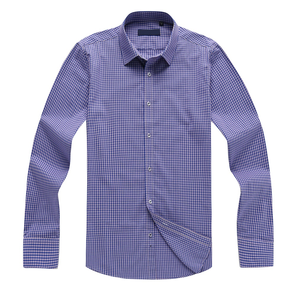 YUNCLOS Plaid Men Shirts Long Sleeve Turn-Down Collar Camisa Masculina Fashion Causal Printed Shirts Men clothes 2018