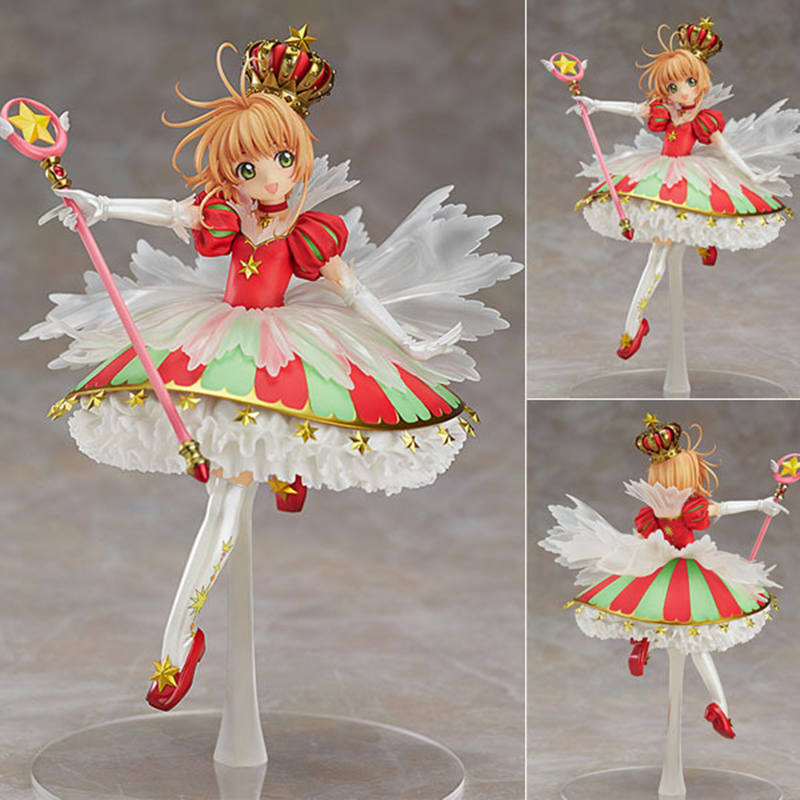 ZXZ Card Captor Cardcaptor Sakura Character Model Clear cards Sealing dream Wand star Collection PVC Doll Toy for Child Gift cartoon character doll model desk ornament gift toy