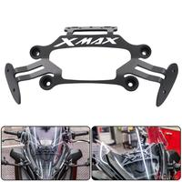 XMAX300 Motorcycle Phone Stand Holder Mobile Phone GPS Bracket Rear View Mirrors Set For Yamaha XMAX250 XMAX300 XMAX400 XMAX125