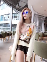 WRD08315BA Fantastic women's Hoodies & Sweatshirts 2018 Popular Luxury Brand Europe Design All Purpose Style women's Collection