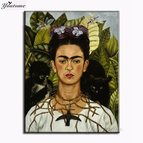 Frida Kahlo printing Wall Art Canvas monet famous impressionist paintings picture print on canvas for living room