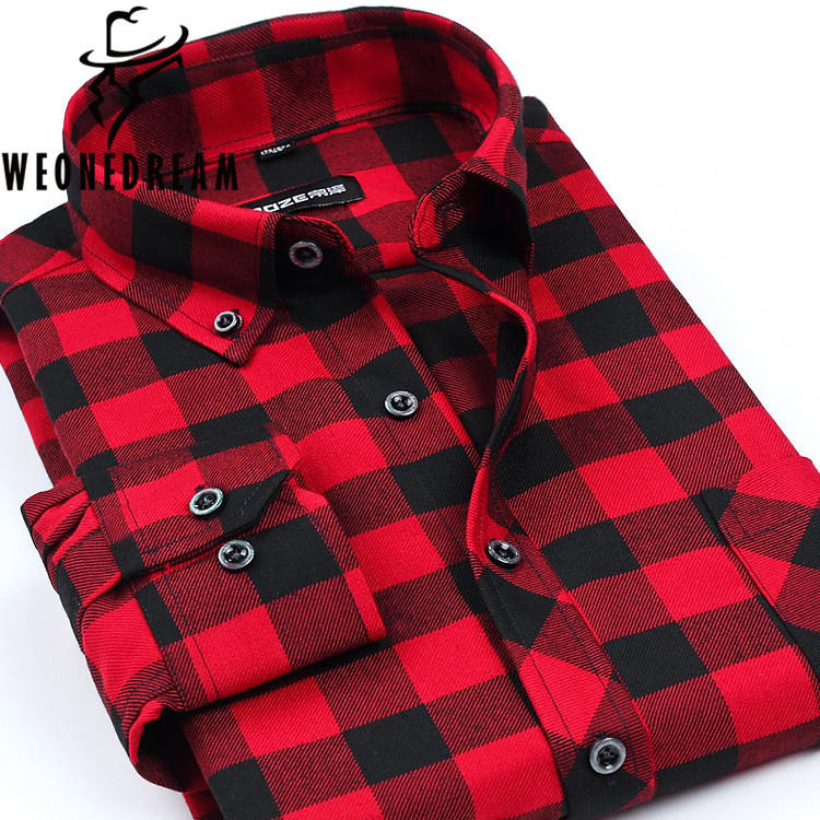 Online buy wholesale cheap flannels for men from china for Buy plaid shirts online