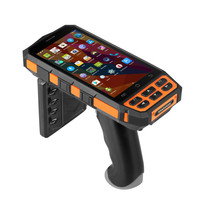 Handheld Barcode Scanner Bluetooth EPC GEN2 Long range Passive Multiple tag reading R2000 Android Handheld UHF RFID Reader