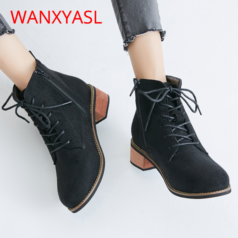 2018 New Fashion Suede Boots For Women Faux Suede Flat Boots Spring Autumn Women Booties Black Brown Shoes Women Boots new 2016 fashion suede