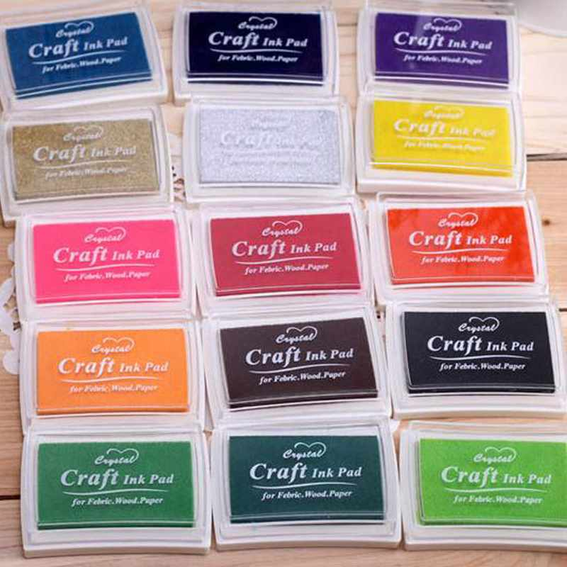 New Style DIY Oil Based Multi Colour Ink Pad For Rubber Stamps Scrapbooking Paper Wood Craft Fabric Drop Shipping