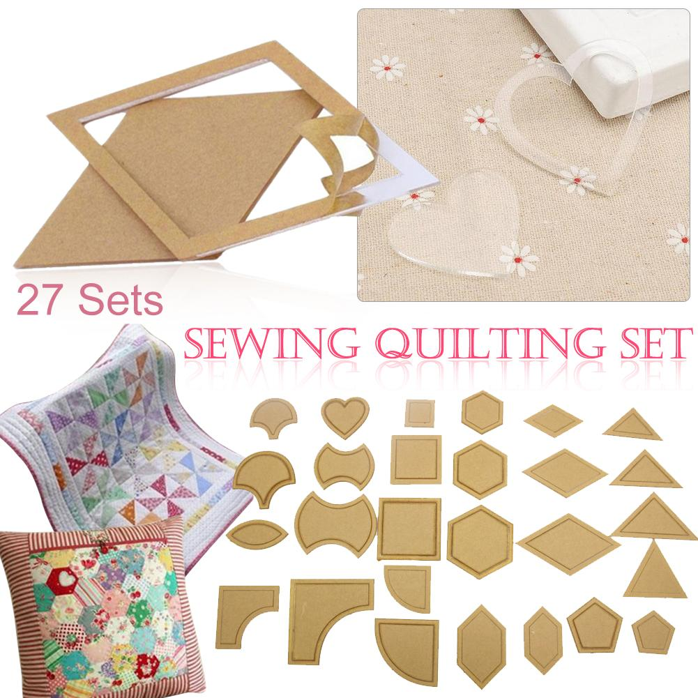 54pcs Acrylic Quilt Quilting Template Ruler DIY Clear Tool For Patchwork Craft