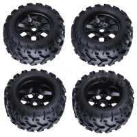 4pcs/lot 150*80*17mm RC Tires & Wheel Rims For 1:8th Monster Truck Tyre with Foam Insert 17mm Hex Hub Mount HSP TORNADO