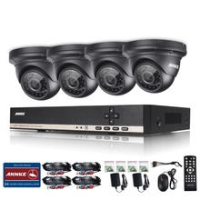 ANNKE  Security CCTV 720P 8CH Day Night IR 4 pcs 1.3MPCameras Kit High Definition Video Surveillance DVR CCTV System