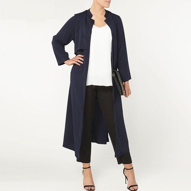 Más el tamaño 5xl mujeres abrigos trench moda otoño OL silm salvaje outwear mujer abrigo largo ZJ1113
