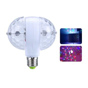 bff90a15032 Lámparas Led RGB de 6 W a todo Color bombillas E27 Lampada CA 85 V 265 110 V  220 V luces de escenario giratorias automáticas proyector DJ fiesta  espectáculo ...