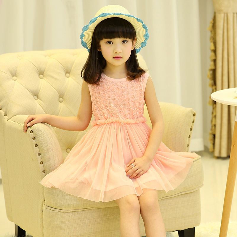 2017 Summer Girl Tutu Dress Petal Baby Girl Princess Dress 2-8 Years Kids Birthday Party Clothing Children Clothes For Girls 2016 baby girl flutter sleeves summer birthday princess dress cotton frock designs teen kids clothing bulk clothes teenagers