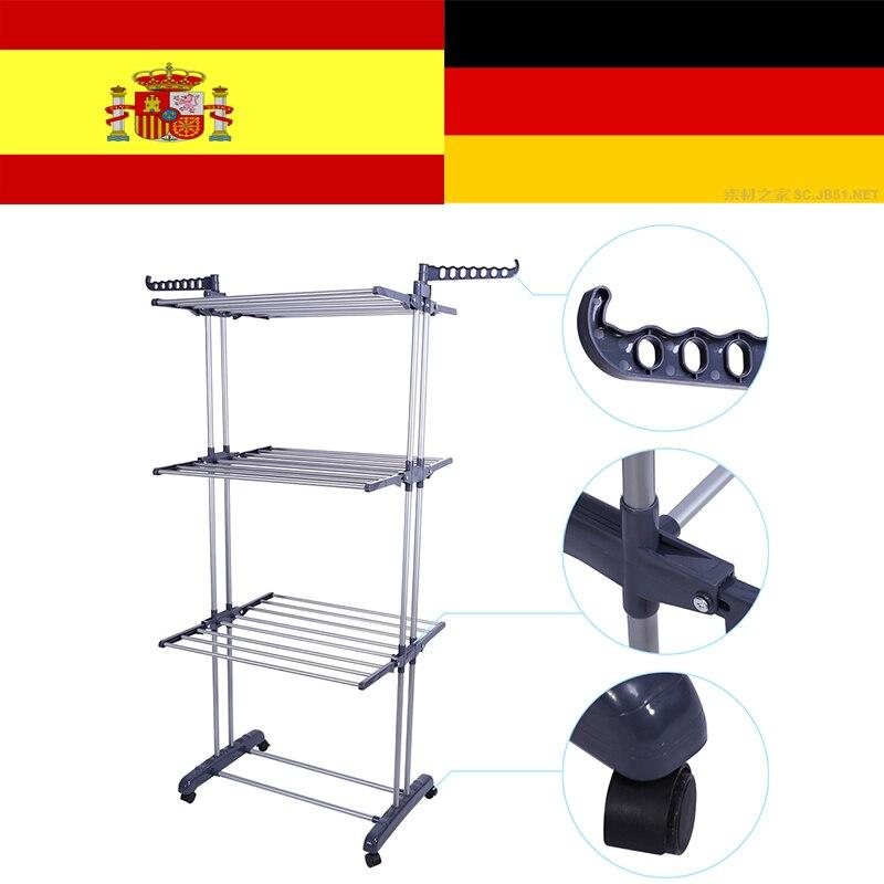1Pcs Roller Type Foldable Clothes Towels Hanger Shelf Standing Garment Rack Organizer Home perchero de pie shirt hanger