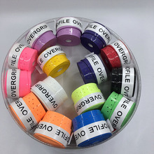 (Assorted color)60 pcs ProFile High quality Tennis Overgrip perforated sticky feel Tennis Rackets Grips Badminton Overgrip