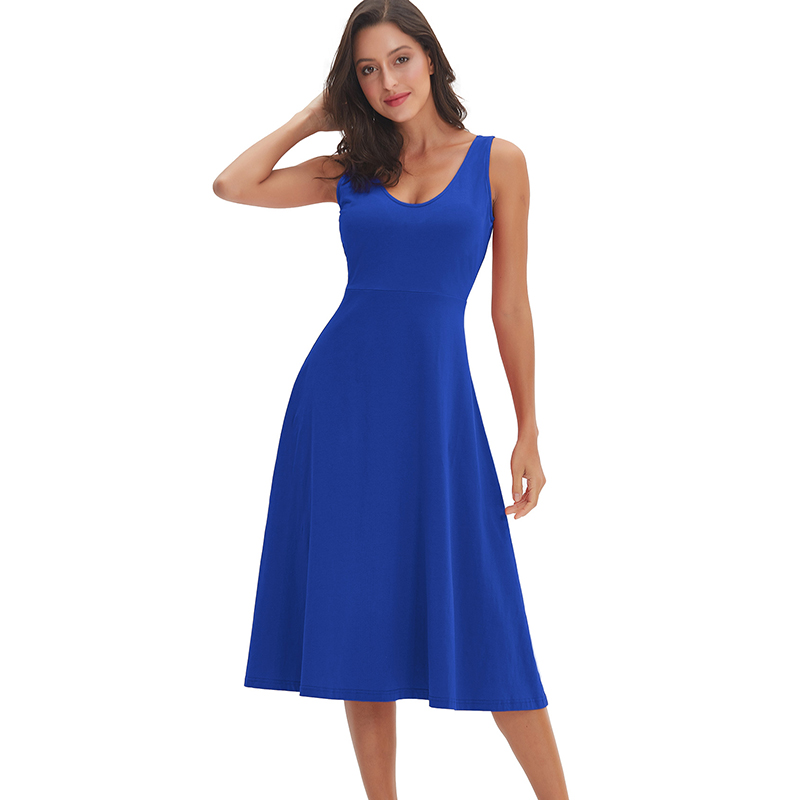 long dress party dress girls mid carf fit and flare office lady dress Summer cotton dress comfortable M302122-in Dresses from Women's Clothing on AliExpress - 11.11_Double 11_Singles' Day 1