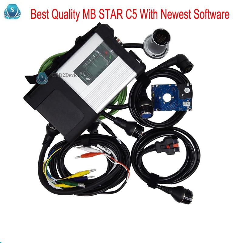 Цена за 2017 мб инструмент диагностики звезда C5 SD подключения Wi-Fi Диагностика SD C5 Беспроводной Функция с программным обеспечением HDD 2017.07