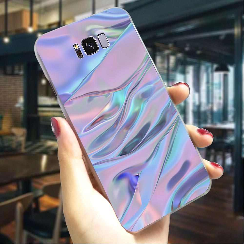 Abstract Rainbow Hard Case for Samsung Galaxy A3 2017 Cover for A5 2016 A6 2015 A7 2018 A8 Plus A9 A10 A20 A30 A40 A50 A70