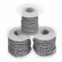 10yards Roll Width 2 5mm 4mm Metal Stainless Steel Necklace Chains Bulk Fit Bracelets Findings Link