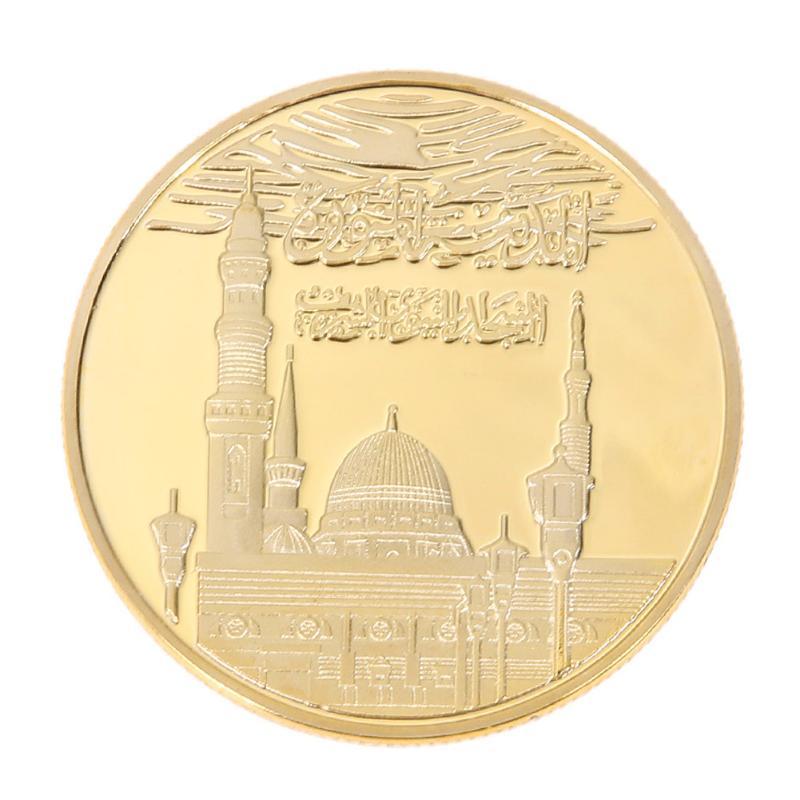 Gold Plated Bitcoin Commemorative Coins Collectible Bitcoin Souvenir Art Collection Travel Gift Physical Metal Antique Imitation