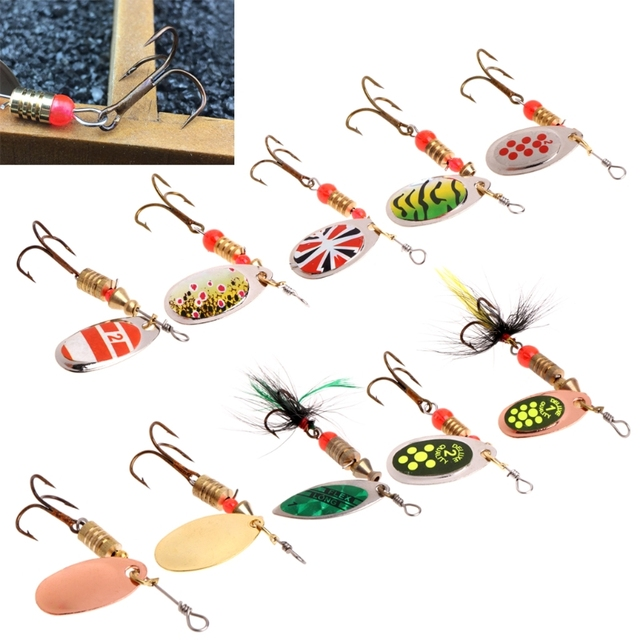 Fishing Lure easy shiner Fishing Spoon Lure Sequins Paillette Metal Hard Bait Double Treble Hook Tackle dropshipping