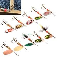 Richiamo di pesca facile shiner Pesca Cucchiaio Lure Paillettes Paillette di Metallo Esca Dura Doppio Treble Hook Tackle dropshipping