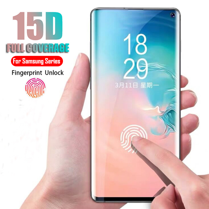 15D Curved Tempered Glass For Samsung Galaxy S10 S8 S9 Plus Note 8 9 Screen Protector For Samsung A8 A6 2018 S10 Protective Film15D Curved Tempered Glass For Samsung Galaxy S10 S8 S9 Plus Note 8 9 Screen Protector For Samsung A8 A6 2018 S10 Protective Film