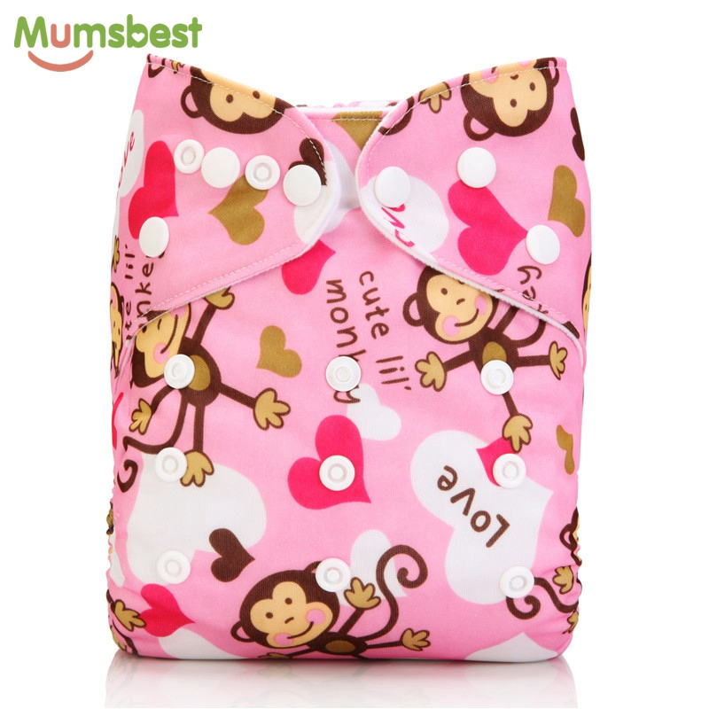 [Mumsbest] 2018 Modern Cloth Nappies Reusable Baby diapers Cover Nappy Washable Ajustable Pocket Diaper for Newborn to 34lbs beilesen solid superfine fiber reusable modern cloth nappies 10 pcs lot