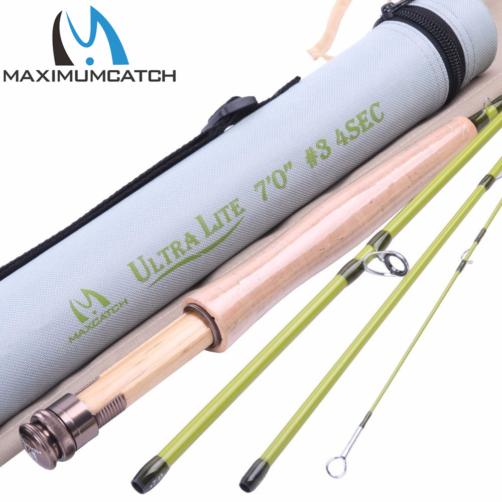 Maximumcatch 3WT Fly Rod 7FT 4Pieces Medium-fast Fly Fishing Rod For Small Stream/Trout crony st8003 3 gc pro stream series rod weight 79g 8 0 3 3pieces fly rod 6 15g fishing rod