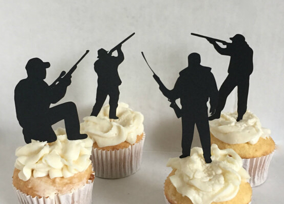 Hunting Silhouette Cupcake Toppers Bachelorette Hem Night Music Party Supplies Wedding Birthday Baby Shower Toothpicks In Cake Decorating