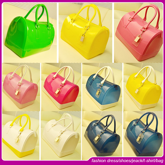 The new 2014 manufacturers wholesale PVC jelly bag candy color bag