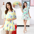 Hot sale Floral Print Nursing Dresses Short Sleeve Breast Feeding Dress plus size  Slim casual  Summer Maternity Clothes nursing