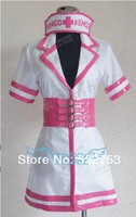 Free shipping New Custom made High quality Japanese anime Super Sonico nurse Cosplay Costume