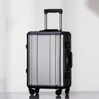 100% Полный Алюминий сплава тележки 20 дюймов из металла Чемодан мала de viage Модная проверяется чемодан Чемодан вести boading случае