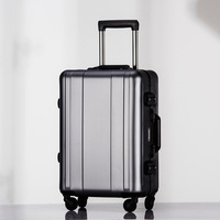 100% Full Aluminum Alloy Trolley 20 inch Metal Luggage Mala de viage Fashionable Checked Suitcase Luggage Carry On Boading Case