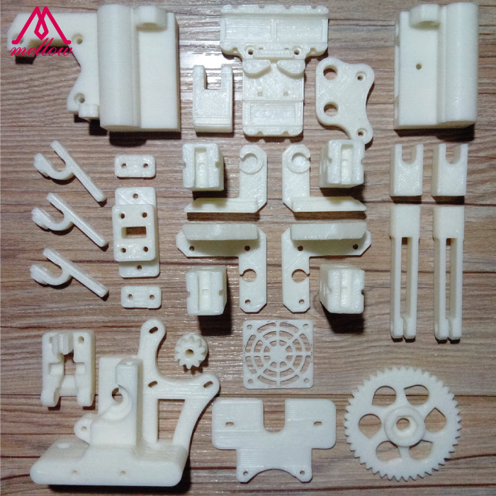 Free shipping DIY RepRap Mendel i3 ABS plastic Parts Kit i3 Acrylic frame 3D Printer printed parts / White colorful reprap i3 rework 3d printer pla required pla plastic parts set printed parts kit mendel i3 free shipping