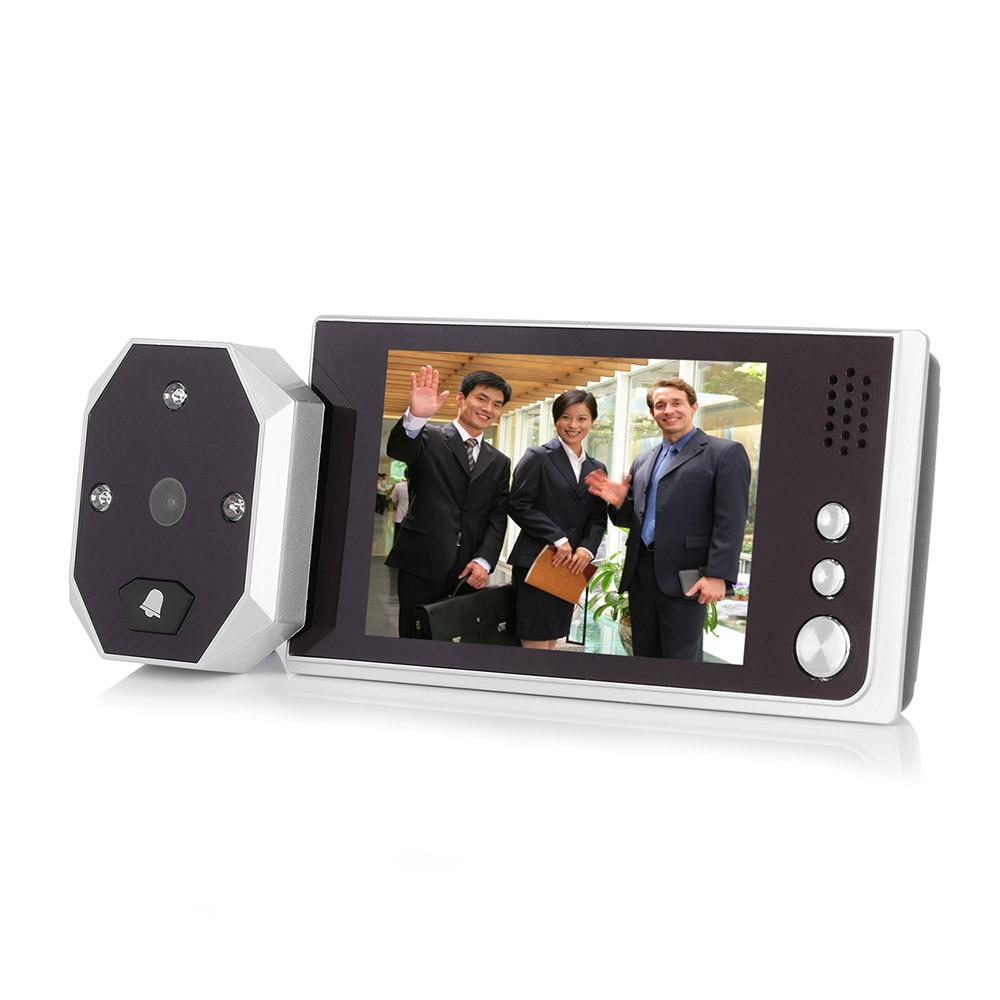 цена на 3.5 inch LCD Touch Screen Digital Doorbell Peephole Viewer Door Eye Doorbell Color IR Camera 120 Degree Door Viewer Camera